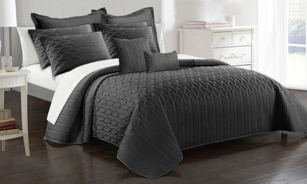 Nine-Piece Interlaced Vine Comforter Set: Queen ($55) or King ($65) (Don't Pay up to $239)