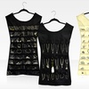 Double-Sided, Dress-Shaped Hanging Jewelry Organizer 2-Pack