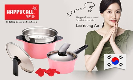 From $48 for a Happycall 18cm Die-Cast Ceramic-Coated Saucepan (worth up to $288). Pot and Steamer Available