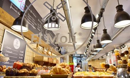 Servicio de catering para 12 o 24 personas con 115 o 230 piezas desde 49,90 € en El Molí Pan y Café Elche