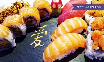Menu sushi con dolce e vino a Posillipo