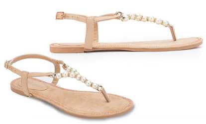 04dd87a761d Shop Groupon Olivia Miller Women s Thong or Gladiator Embellished Sandals