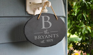 56% Off Personalized Slate Outdoor Sign from Etchey