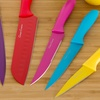 Colored Stainless Steel Knife Set with Sheaths (14-Piece)