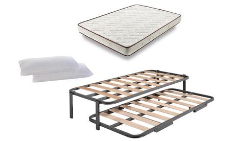 Cama con opción a colchones y almohadas