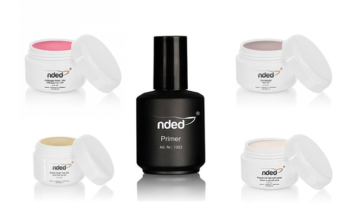 Kit unghie con 4 gel e primer Nded