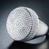 18K White Gold Plated Micro-Pave Ring