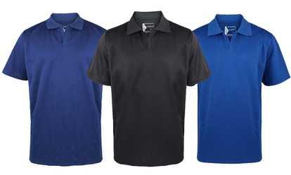 Men 39 s polos deals coupons groupon for No button polo shirts