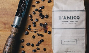 D'Amico Coffee Inc: $17 for $30 Worth of Artisan-Roasted Coffee at D'Amico Coffee Inc