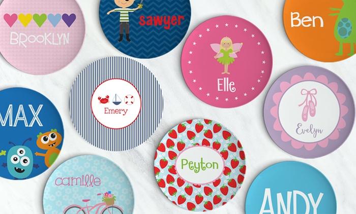 personalized kids plates lima bean kids groupon