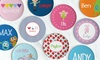 Lima Bean Kids: One, Two, Three, or Four Personalized Kids' Plates from Lima Bean Kids (Up to 52% Off)