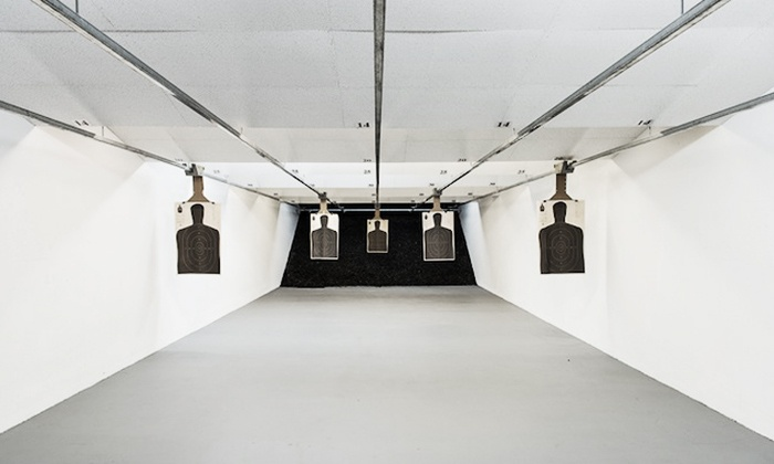 Mainstreet Guns and Range - Stone Mountain: Gun-Range-Visit Packages or a Safety Class at Mainstreet Guns and Range (Up to 70% Off). Four Options Available.