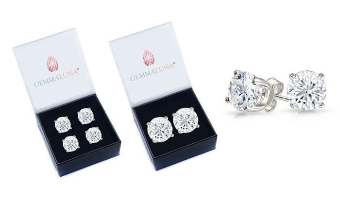 Gemma Luna 2 00 Cttw Genuine White Topaz Stud Earrings 1 Or Pack