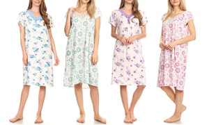 8f97f670a0 Women's Lace-Trim Floral Nightgown. Plus Sizes Available.