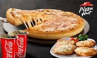 Menú para 2 con pizza mediana, pan de ajo clásico y bebida pequeña por 6 € en 2 locales de Pizza Hut