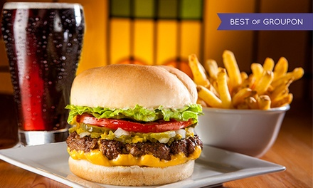 C$9 for One Original Fatburger with Cheese, Skin-On Fries, and Bottomless Drink at Fatburger (C$14.46 Value)