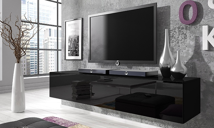 Groupon Goods Global GmbH: Rocco Floating Gloss TV Cabinet In Choice Of  Colour U0026 Size ...
