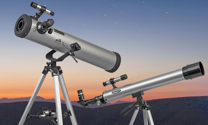Zennox Refractor Telescope (50mm x 600mm) or Reflector Telescope (76mm x 700mm)