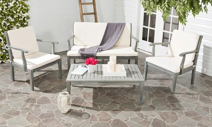 Capri outdoor furniture set groupon goods for Outdoor furniture groupon