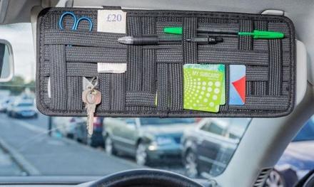 1 of 2 zonnekleporganizers voor in de auto