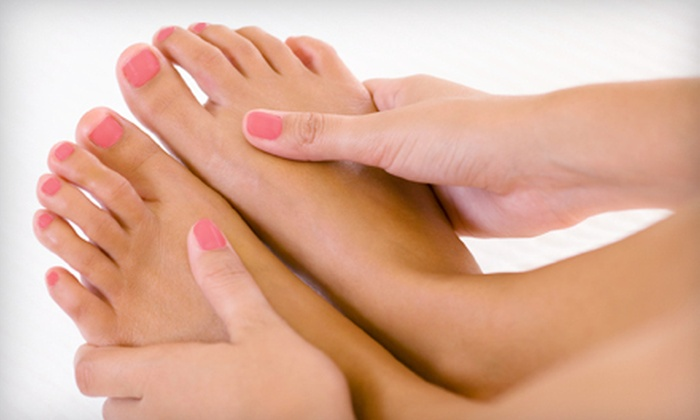 Angel Salon and Day Spa - Sugarland: Deluxe Mani-Pedi with Shellac Polish or Solar Full Set of Artificial Nails at Angel Day Spa and Salon in Sugarland (Half Off)