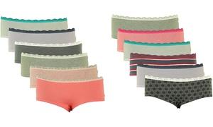Women's Comfort Ultra-Soft Cotton Boyshort Panties (8-Pack)