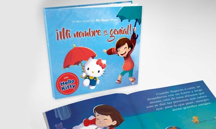 """1, 2 o 3 libros personalizados para niños """"Mi nombre es genial!""""edición Hello Kitty con Story of my Name"""