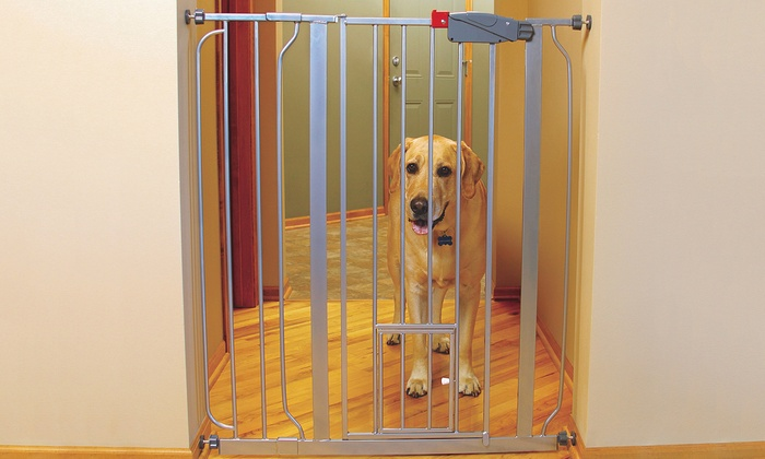 walkthrough pet gate with small pet door walkthrough pet gate with