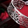 Sterling Silver Roman Design Filigree Cuff Bangle