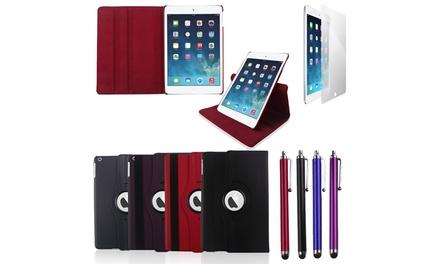 iPad Essentials Pack  Rotating Case, Stylus Pen and Screen Protector Bundle for iPadiPad Mini iPad Air or Air 2