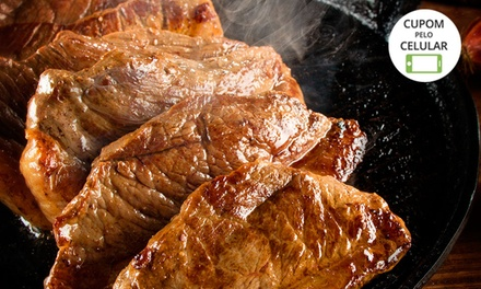 Picanha na chapa ou frango à parmegiana com sobremesa para 2 ou 4 pessoas no Restaurante Villa Maestria – Salgado Filho