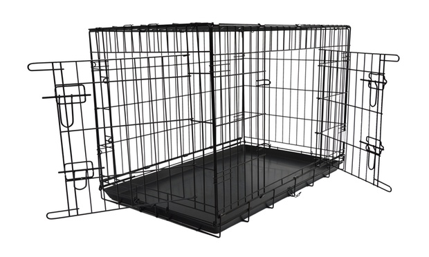 cage de transport pour chien groupon shopping. Black Bedroom Furniture Sets. Home Design Ideas