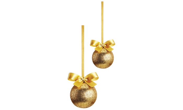 Palline Natale.Adesivo In 3d Palline Di Natale D Oro Wall Impact Made In Italy