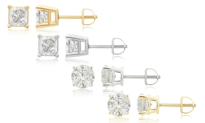 2 Cttw Diamond Stud Earring In 14k Gold By Brilliant