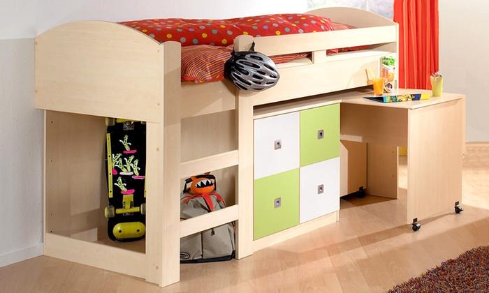 hochbett mit kommode schreibtisch groupon goods. Black Bedroom Furniture Sets. Home Design Ideas