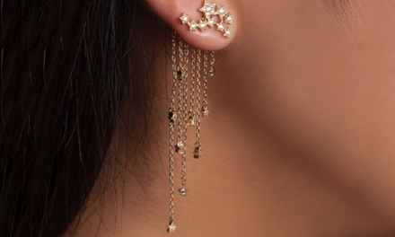 One or Two Pairs of Droplet Star Earrings