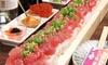 2名分~/ マグロユッケ寿司食べ放題など+飲放題