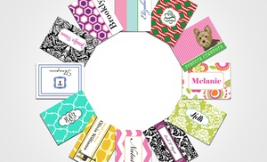 personalized flat or folded note cards - Personalized Folded Note Cards