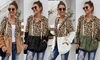 Women's Leopard Zip Cardigan