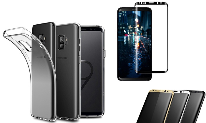Curved TPU Case with Screen Protector for Samsung