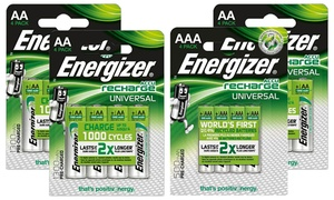 Set piles Rechargeables Energizer