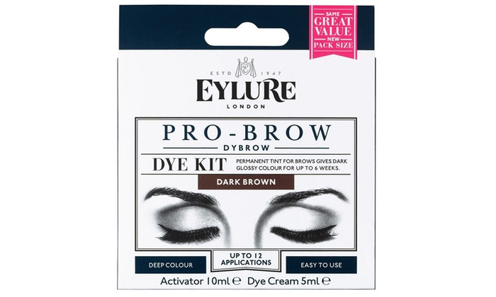 eylure dybrow dark brown dye kit