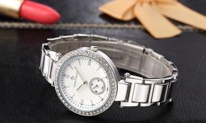 (Bijou)  Montre cristaux Swarovski® Elle -90% réduction