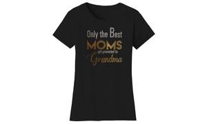 Mother's Day Women's Rhinestone Bling T-Shirts