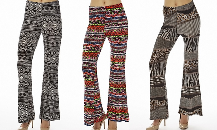 Women's Printed Flared Pants (...