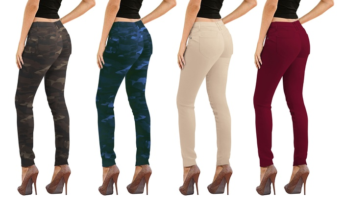 581a7e7e497e HyBrid and Company Mid-Rise Butt Lift Stretch Skinny Jeans | Groupon