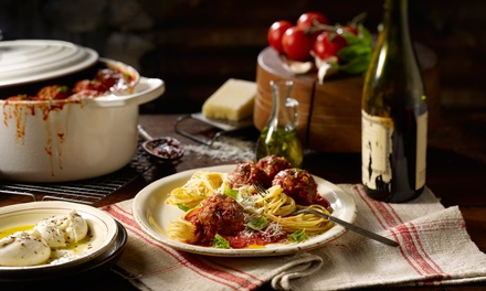 3Course Italian Dinner with Wine: Two $69, Four $135 or Six People $199 at Osteria Dei Sapori Up to $342 Value