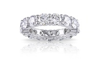 GROUPON: 5.00 CTTW Cubic Zirconia Eternity Band 5.00 CTTW Cubic Zirconia Eternity Band
