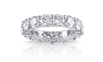5.00 CTTW Cubic Zirconia Eternity Band in Sterling Silver