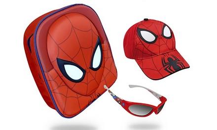 Set de Spiderman para niños con mochila, neceser, cartera, gafal de sol y gorra